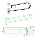 Accoudoirs en U de toilette, barre d'encavateur de sûreté, accoudoirs de toilette