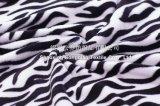 100% cobertor coral do velo do poliéster - Zebra-Listra