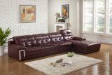 Sofà domestico del cuoio del salone del sofà dell'angolo della mobilia (UL-NS178)