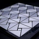 Décor à la maison intérieur d'or argenté géométrique Wallsticker de tuiles de mosaïque de Royllent