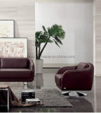 거실 소파 나무 골격 홈 가죽 현대 소파 (UL-NS015)