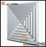 1-4 registre carré de grille d'aération de diffuseur de plafond de voie