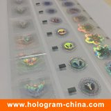 Folha de carimbo quente do holograma feito sob encomenda de Demetalation