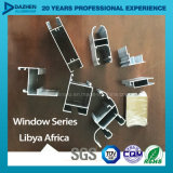 Profil en aluminium pour le marché de l'Afrique Libye de porte de guichet avec différentes couleurs
