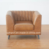 (SP-HC584) Personnalisé China Loose Furniture Single Sofa Leather Hotel