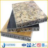 Подпертая изогнутая каменная алюминиевая панель сота для конструкционных материалов