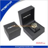 Luxo feito sob encomenda da forma marcado caixa de relógio de couro do plutônio