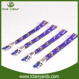 Wristbands de nylon feitos sob encomenda Wristband tecido com grampo de Piatic