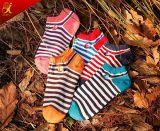 Neuer Entwurf für Form der Männer trifft Streifen-Baumwollsocken en gros hart