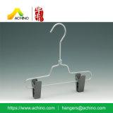 Percha de la falda del metal de los cabritos de la alta calidad con los clips (APSH100)