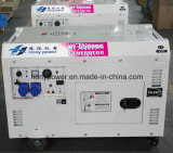 Générateur portatif électrique de petit pouvoir silencieux portatif refroidi par air du moteur diesel 5.5kw avec la production de l'électricité 4-Stroke se produisante diesel