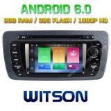 Witson Acht Androïde 6.0 Auto van de Kern DVD voor Zetel Ibiza 2009-2013