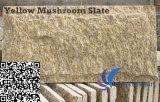 Granit naturel jaune Champignon de pierre pour mur Bardage / Coin