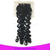 Могут быть покрашенные волосы с отбеленным закрытием шнурка узлов итальянским волнистым