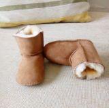 Zapatos suaves de Prewalker del bebé de la cara de la corderina merina doble de Australia