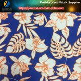 Il tessuto normale nella stampa, fiore della pelle della pesca del poliestere ha stampato il tessuto per il Beachwear (YH2140)