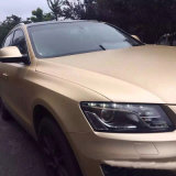vinilo libre impermeable de cobre amarillo auto-adhesivo del PVC de la burbuja de aire del 1.52m*20m Silve que envuelve el abrigo mate del coche de Chome