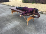[بورتبل] خشبيّة تدليك طاولة مع [س] و [روهس] ([مت-007])