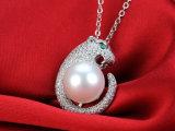 925純銀製AAA 10-11mmの自然な淡水の真珠のペンダントのネックレス
