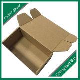 E flauta caja de papel corrugado