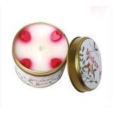 Vela perfumada encantadora del estaño de la soja