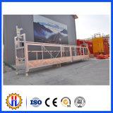 Plate-forme suspendue par construction actionnée de mur extérieur