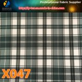 Tela de la verificación del poliester con 10 opciones en las mercancías pronto para la guarnición de la ropa (X045-47)