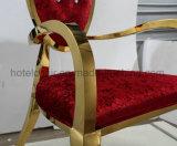 Hotel rosso elegante durevole del tessuto che pranza le presidenze
