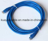 Fator do cabo da telecomunicação do cabo de fio do gato 6/do gigabit do conetor RJ45 CAT6/cabo