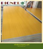 el papel de la melamina del pegamento E1 de 12m m hizo frente a la tarjeta del MDF para la decoración