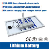 el alumbrado público solar de 30W~200W LED con el doble arma la batería de litio de 12/24V 60ah