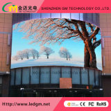 Muestra publicitaria curvada a todo color de /LED de la visualización de LED del GM P6/P8/P10/P16/P20
