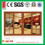 Puerta de cristal europea de la doble vidriera del estilo