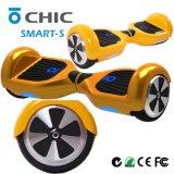 Vespa elegante de la tarjeta de la rueda de la pulgada dos de la alta calidad 6.5 con la luz del LED, vehículo portable