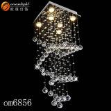 Diseño excelente cristalino de 2017 lámparas pendientes de la lámpara para la decoración de interior Om6856