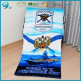 El algodón 100% Cmyk imprimió la toalla de playa modificada para requisitos particulares del OEM del verano
