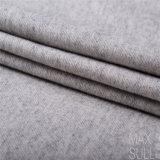 Tela de las lanas/de algodón para la capa del otoño o del invierno en gris