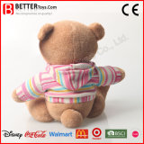 Brinquedo macio urso remendado para a menina