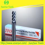 Moinho de extremidade liso do cortador de trituração do carboneto de tungstênio
