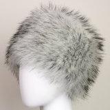 女性の冬の暖かいのどの毛皮コサックのロシア様式の帽子の帽子のベレー帽の帽子(HW802)