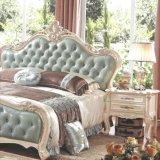Деревянная кровать спальни для комплекта мебели спальни