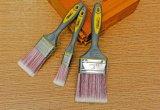 """1 """" cepillo de pintura de las herramientas de la pintura con las cerdas sintetizadas afiladas y la maneta de TPR"""