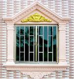 Farben-schiebendes Gitter-Entwurfs-Fenster-Aluminiumhaus Indien China-Champagne