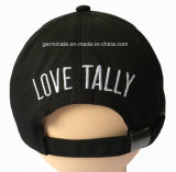 前面パネルの3D Embおよび背部(LY049)の平らなEmbの100%Cotton方法野球帽