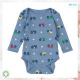 長い袖の赤ん坊の服装OEMの男の子のBodysuit