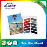Impressão cheia da qualidade superior que decora a carta de cor da pintura