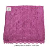 Gleichheit gefärbte Klee-Silk Großhandelsdame Fashion Lace Scarf