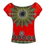 A senhora a mais atrasada Parte superior Projeto Costume Roupa da forma da camisa 2017 africanos