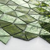 Mattonelle verdi e nere della decorazione della stanza da bagno di Gilitter di cristallo di mosaico