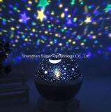 별 하늘 투상 돌릴수 있는 밤 빛 LED 별 달 영사기